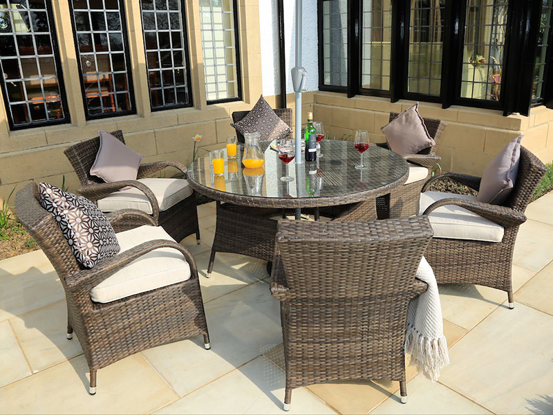 rattan dining table serts