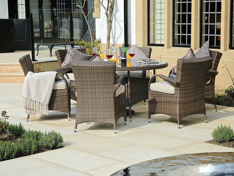 outdoor wicker dining table and chairs