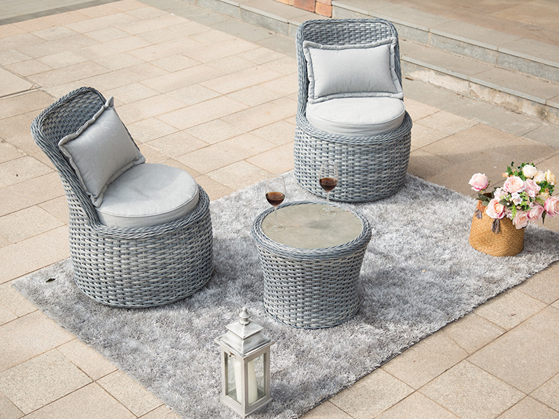 wicker rattan dining set