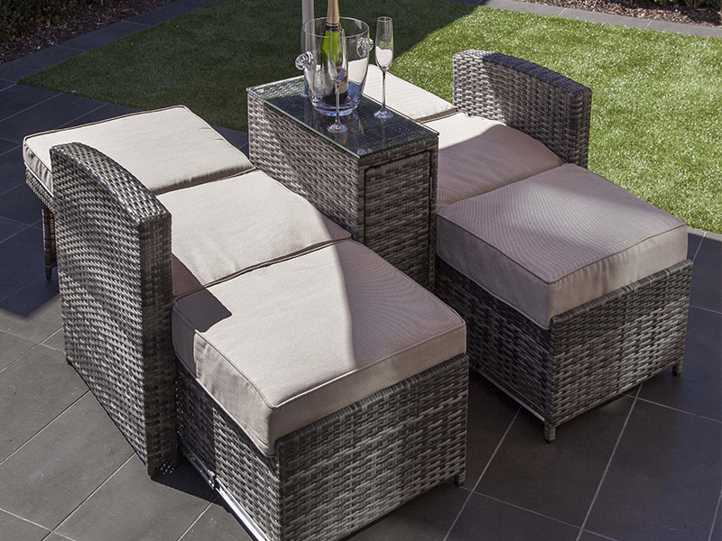 Rattan Sofa Sets with sun umbrella