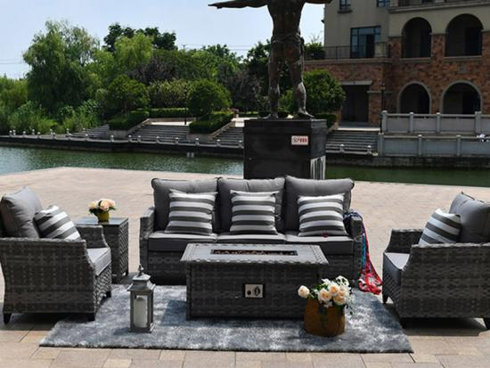 rieten outdoor sofa sets