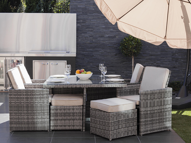 Rattan wicker dining sets furniture